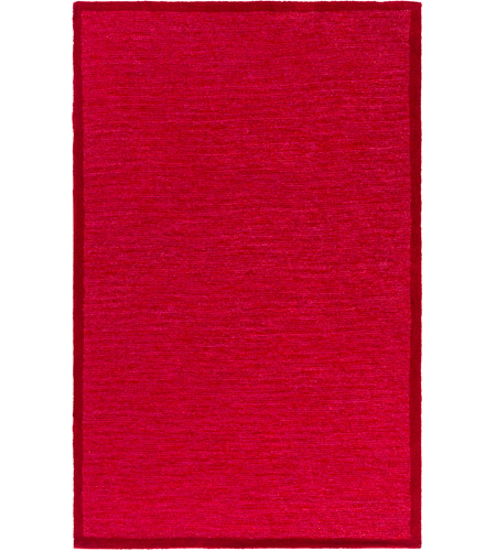 Surya FNY3005-576 Finley 90 X 60 inch Red and Red Area Rug, Polyester photo