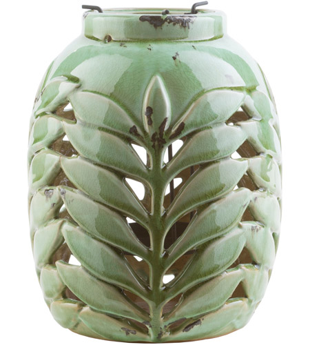 Surya FRN222-M Fern 9 X 7 inch Green and Green Outdoor Decorative Lantern photo