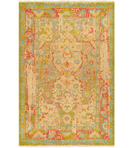 Surya FVL1000-69 Festival 108 X 72 inch Green and Blue Area Rug, Wool photo