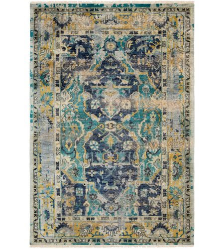 Surya FVL1001-69 Festival 108 X 72 inch Blue and Blue Area Rug, Wool photo
