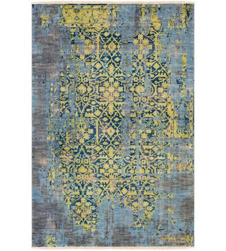 Surya FVL1003-23 Festival 36 X 24 inch Green and Blue Area Rug, Wool photo