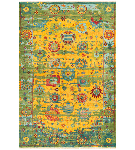 Surya FVL1005-913 Festival 156 X 108 inch Yellow and Green Area Rug, Wool photo