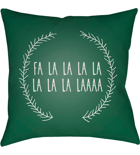 Surya HDY023-2020 Falalalala 20 X 20 inch Green and White Outdoor Throw Pillow photo