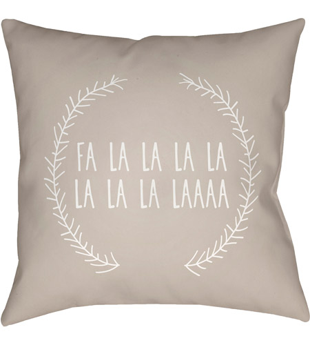 Surya HDY025-2020 Falalalala 20 X 20 inch Beige and White Outdoor Throw Pillow photo