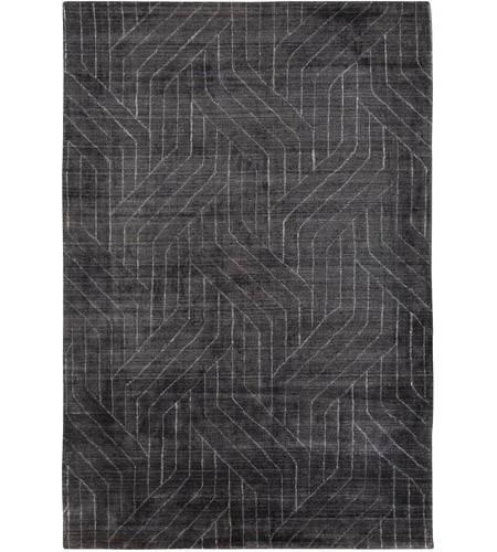 Surya HTW3011-69 Hightower 108 X 72 inch Charcoal and Black Area Rug photo