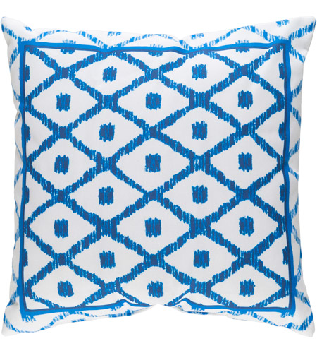 Surya Id016 2020 Decorative Pillows 20 X 20 Inch Blue And White