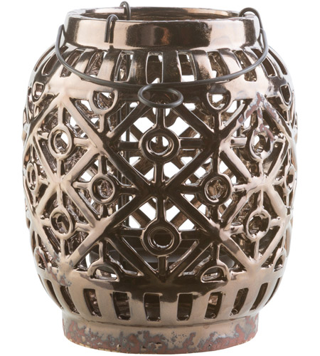 Surya KLL849-S Killian 6 X 6 inch Black and Brown Outdoor Decorative Lantern photo