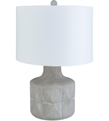 Surya Light Gray Linen Table Lamps