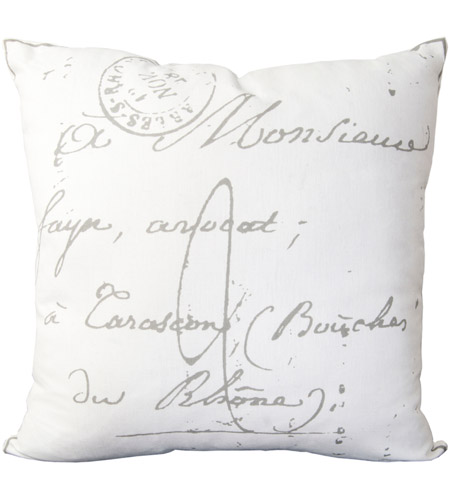 Surya LG512-1818 Montpellier 18 X 18 inch Cream/Charcoal Pillow Cover photo