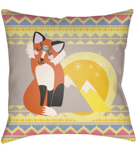 Yellow Outdoor Throw Pillows.Surya Li002 2020 Littles 20 X 20 Inch Pink And Yellow Outdoor Throw Pillow
