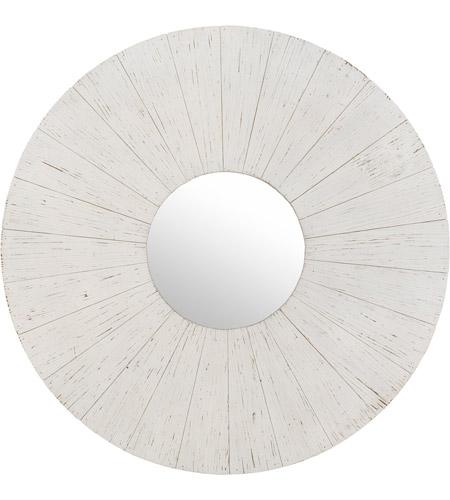 Surya Lwd001 4040 Linwood 40 X 40 Inch White Wall Mirror Round