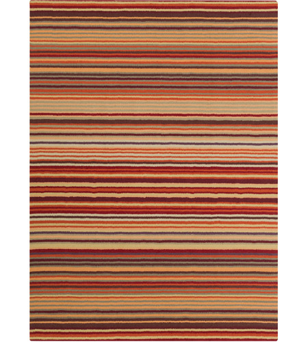 Surya M102-811 Mystique 132 X 96 inch Red and Orange Area Rug, Wool photo