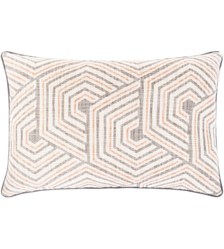 Surya MAL002-2214 Mila 22 X 14 inch Beige/Ivory/Medium Gray/Burnt Orange Pillow Cover photo