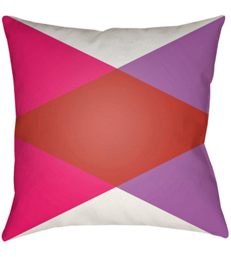 Surya MD003-1818 Moderne 18 X 18 inch White and Red Outdoor Throw Pillow photo
