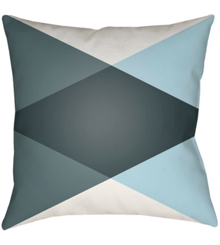 Surya MD008-1818 Moderne 18 X 18 inch White and Blue Outdoor Throw Pillow photo
