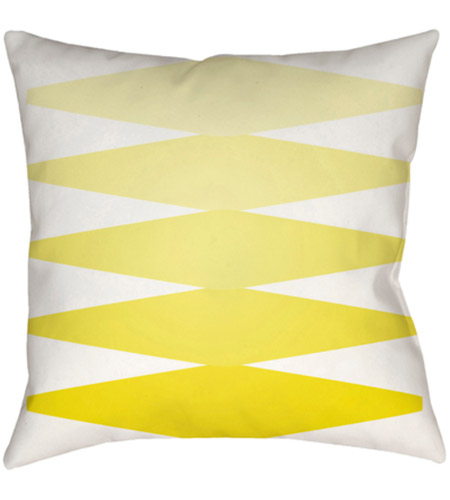 Surya MD011-2222 Moderne 22 X 22 inch Yellow and White Outdoor Throw Pillow photo
