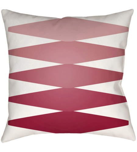 Surya MD015-2222 Moderne 22 X 22 inch Red and Pink Outdoor Throw Pillow photo