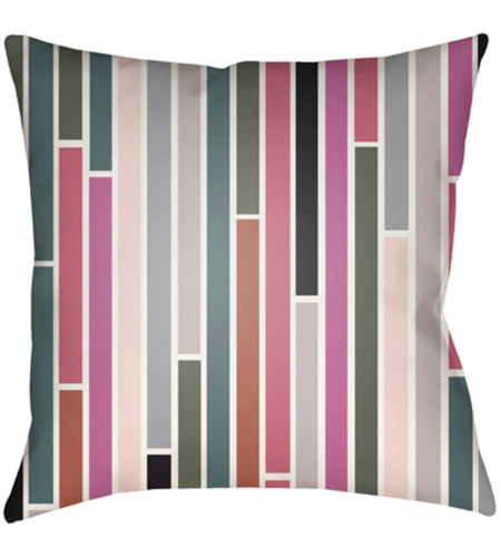 Surya MD019-2222 Moderne 22 X 22 inch Pink and Green Outdoor Throw Pillow photo