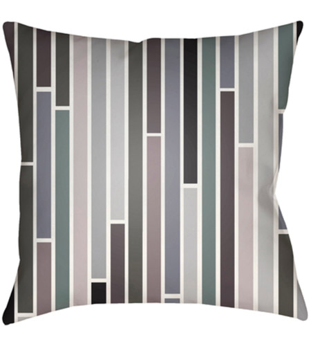 Surya MD023-2222 Moderne 22 X 22 inch Black and Navy Outdoor Throw Pillow photo