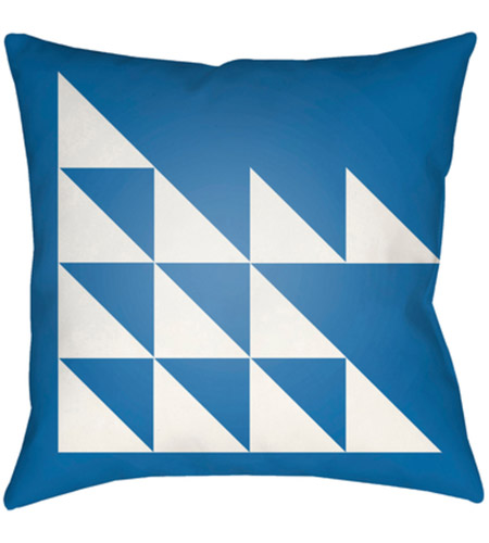 Surya MD024-2222 Moderne 22 X 22 inch White and Blue Outdoor Throw Pillow photo