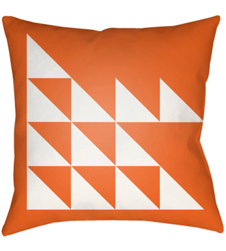 Surya MD025-2020 Moderne 20 X 20 inch Orange and White Outdoor Throw Pillow photo