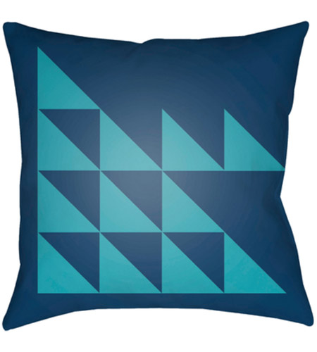 Surya MD029-1818 Moderne 18 X 18 inch Navy and Blue Outdoor Throw Pillow photo