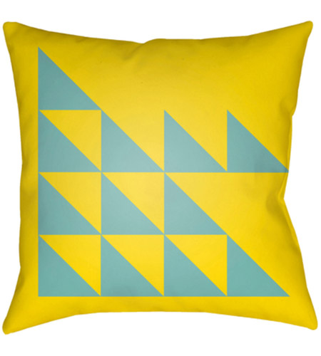 Surya MD030-2020 Moderne 20 X 20 inch Yellow and Blue Outdoor Throw Pillow photo