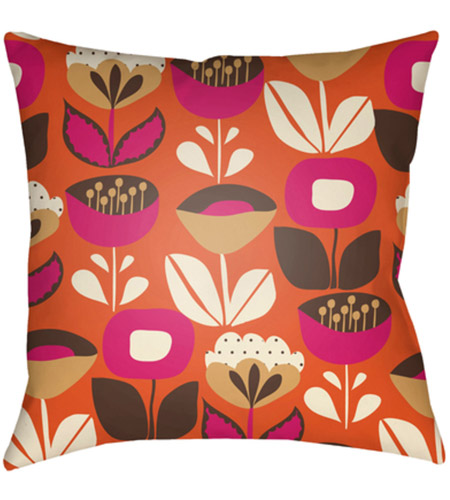 Surya MD034-2020 Moderne 20 X 20 inch Orange and White Outdoor Throw Pillow photo