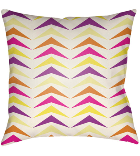 Surya MD057-2222 Moderne 22 X 22 inch Pink and White Outdoor Throw Pillow photo
