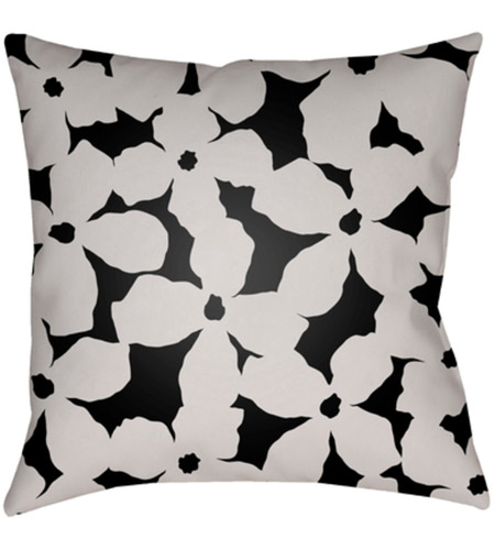 Surya Mf003 2020 Moody Floral 20 X 20 Inch Off White And Black