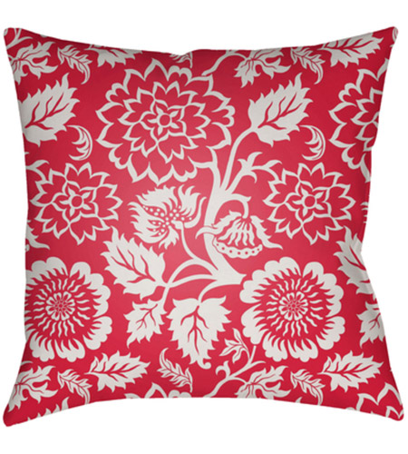 Surya MF020-2222 Moody Floral 22 X 22 inch Bright Pink and White Outdoor Throw Pillow photo