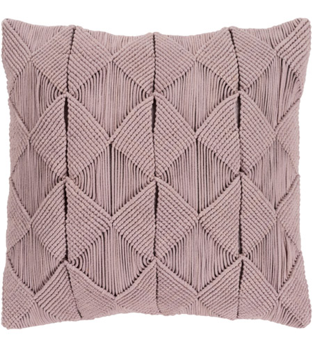 Surya MGR002-2222D Migramah 22 X 22 inch Taupe Pillow Kit, Square photo