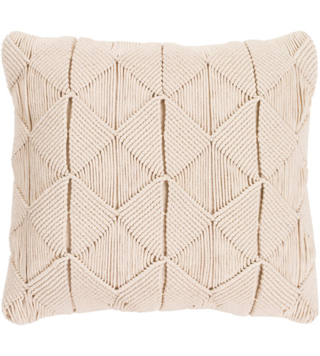 Surya MGR003-1818D Migramah 18 X 18 inch Cream Pillow Kit, Square photo