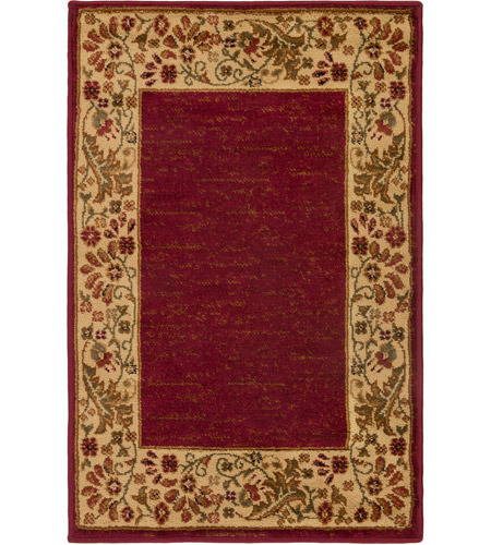 Surya MID4740-6798 Midtown 114 X 79 inch Dark Red/Wheat/Camel/Sage Rugs, Olefin photo