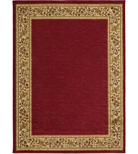 Surya MID4740-5373 Midtown 86 X 63 inch Dark Red/Wheat/Camel/Sage Rugs, Olefin photo