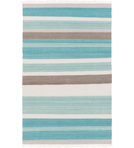 Surya MIG5000-576 Miguel 90 X 60 inch Blue and Gray Area Rug, Wool and Cotton photo