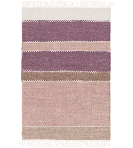 Surya MIG5002-23 Miguel 36 X 24 inch Purple and Purple Area Rug, Wool and Cotton photo