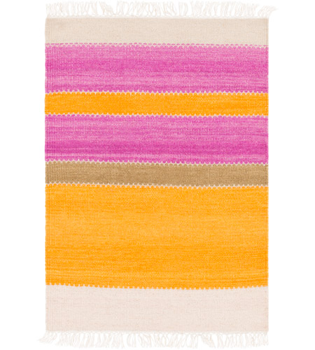 Surya MIG5003-23 Miguel 36 X 24 inch Orange and Purple Area Rug, Wool and Cotton photo