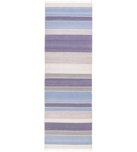 Surya MIG5004-268 Miguel 96 X 30 inch Blue and Blue Runner, Wool and Cotton photo