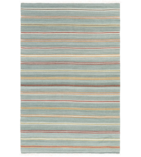Surya MIG5008-576 Miguel 90 X 60 inch Blue and Orange Area Rug, Wool and Cotton photo