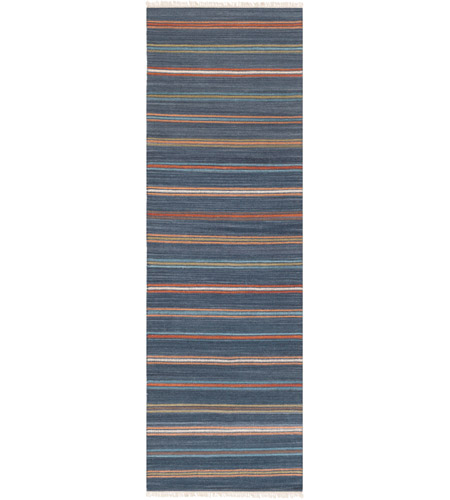 Surya MIG5010-268 Miguel 96 X 30 inch Blue and Red Runner, Wool and Cotton photo