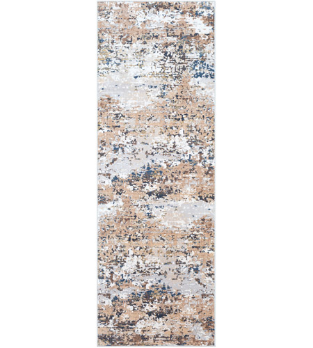 Surya MLN2300-6996 Milano 114 X 81 inch Light Gray/Ivory/Dark Brown/Bright Blue/White Rugs photo