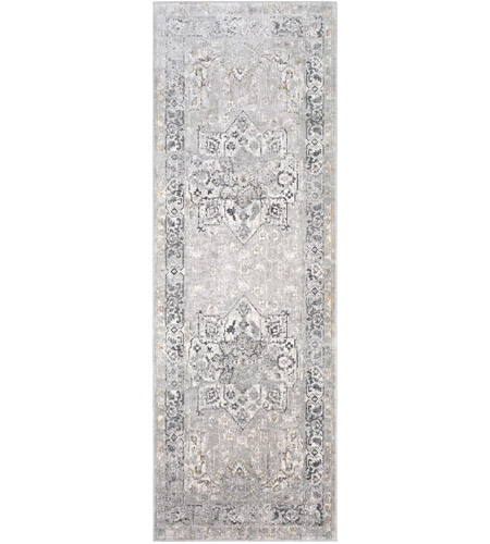 Surya MLN2305-275 Milano 60 X 31 inch Light Gray/Medium Gray/White/Mustard/Charcoal Rugs photo