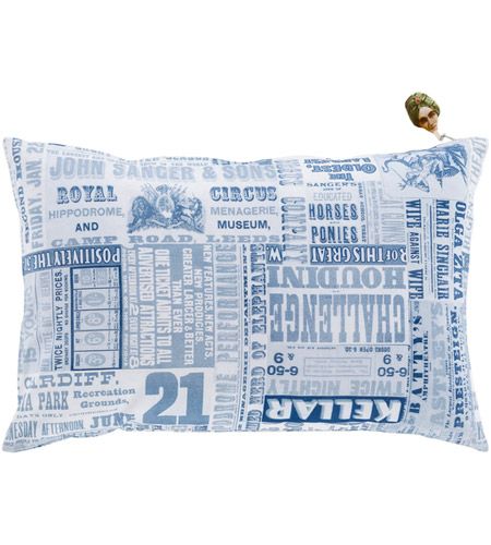 Surya MNG004-1320P Mind Games 19 X 13 inch Navy and Denim Lumbar Pillow photo