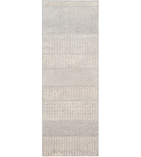 Surya MOC2306-23 Monaco 36 X 24 inch Silver Gray/Medium Gray/Cream Rugs photo