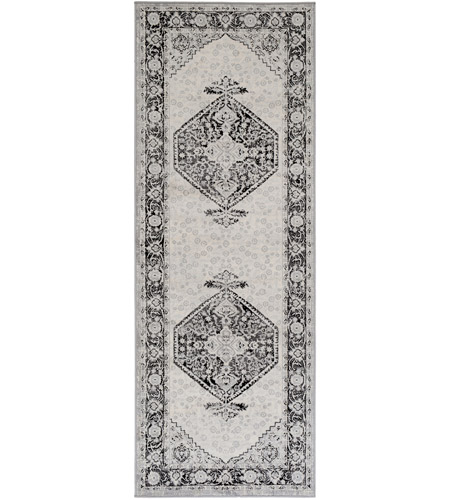 Surya MOC2329-2773 Monaco 87 X 31 inch Black/Cream/Silver Gray/Medium Gray Rugs photo