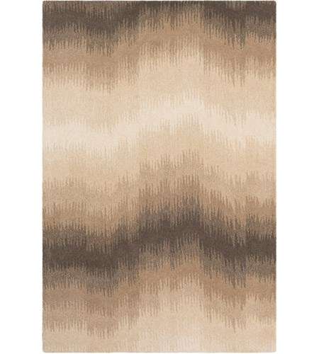 Surya MOI1012-576 Mountain 90 X 60 inch Brown and Neutral Area Rug, Wool photo