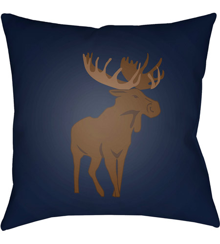 Surya MOO005-1818 Moose 18 X 18 inch Blue and Brown Outdoor Throw Pillow photo