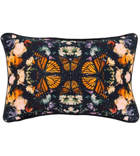 Surya Mph001 1319 Metamorphosis 19 X 13 Inch Black Pillow Cover Lumbar Photo
