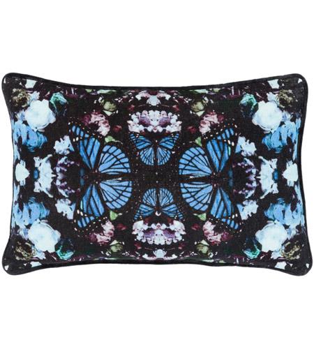 Surya Mph002 1319 Metamorphosis 19 X 13 Inch Black Pillow Cover Lumbar Photo